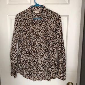 Cheetah print button down